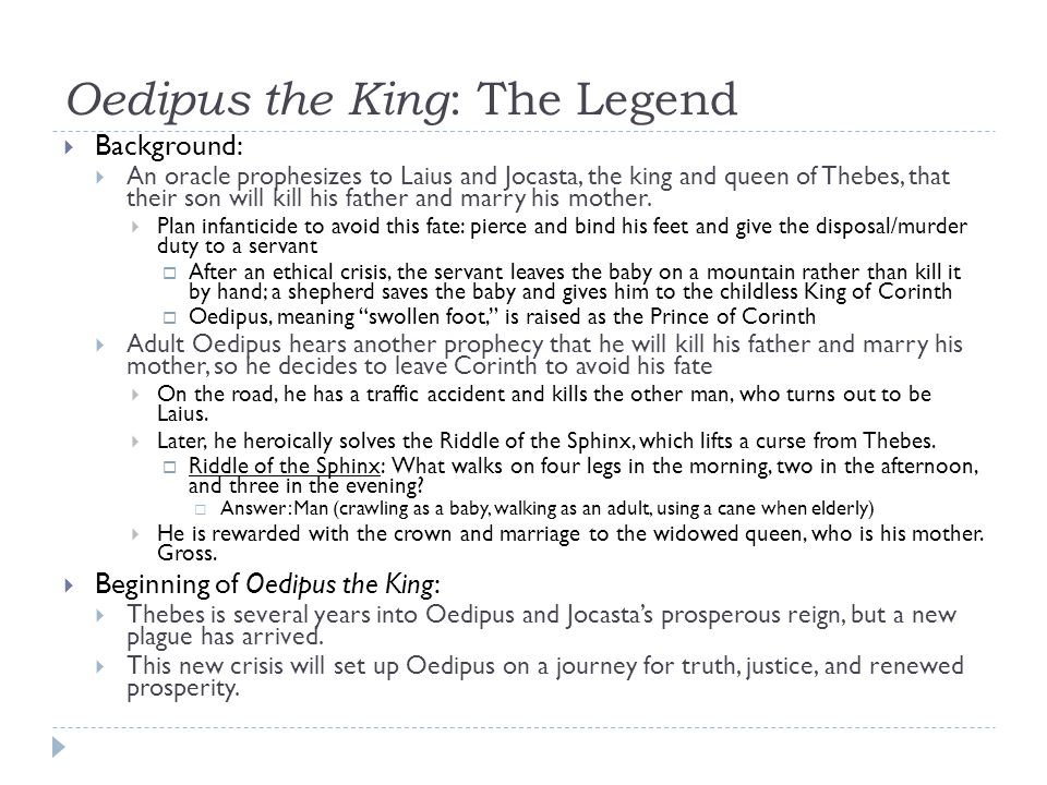 themes of blindness and fate in oedipus the king by sophocles Oedipus the king character analysis oedipus themes and ideas of irony and fate happened over him about being blind tiresias tells oedipus that he can see.