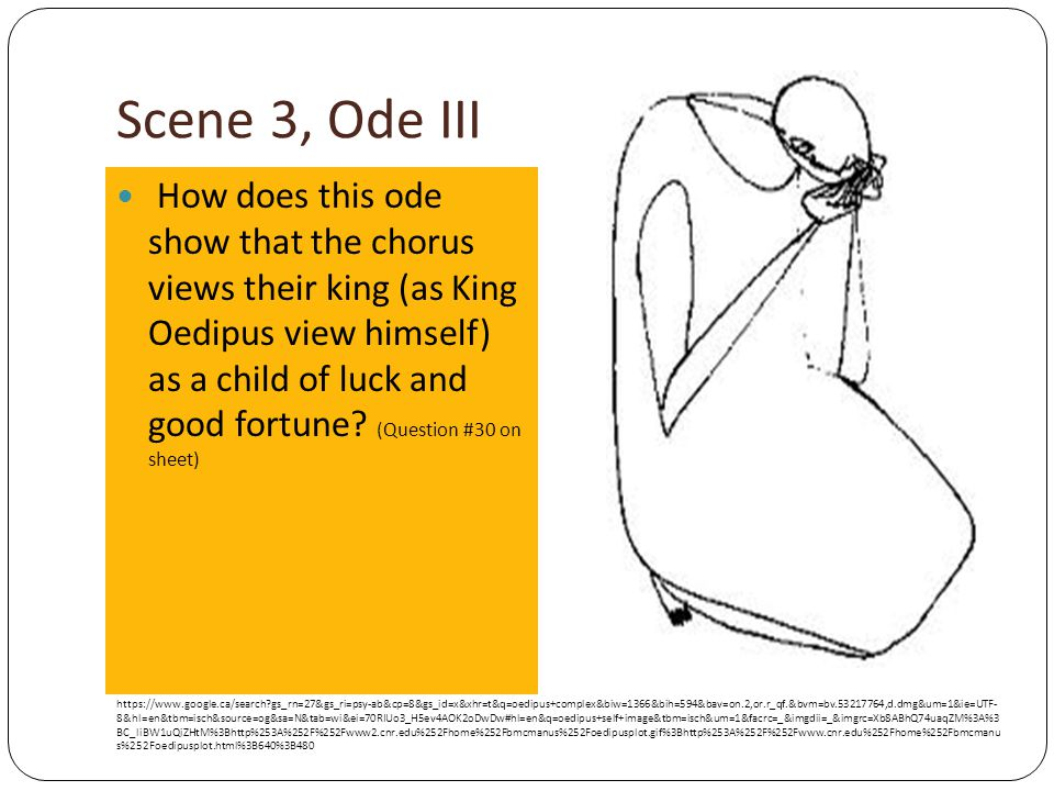 oedipus rex odes Oedipus rex by sophocles before we do anything else, let's clear up the pronunciation of o-e-d-i-p-u-s  choral ode ii the chorus is shaken by what it has heard it is also distressed by the manner in which jocaste dismisses the pronouncements of the oracle they remind.
