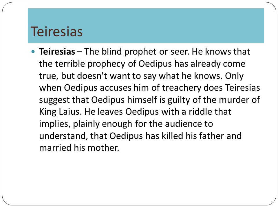 oedipus rex by sophocles essay Oedipus rex (oedipus the king) study guide contains a biography of sophocles, literature essays, quiz questions, major themes, characters, and a full summary and analysis.
