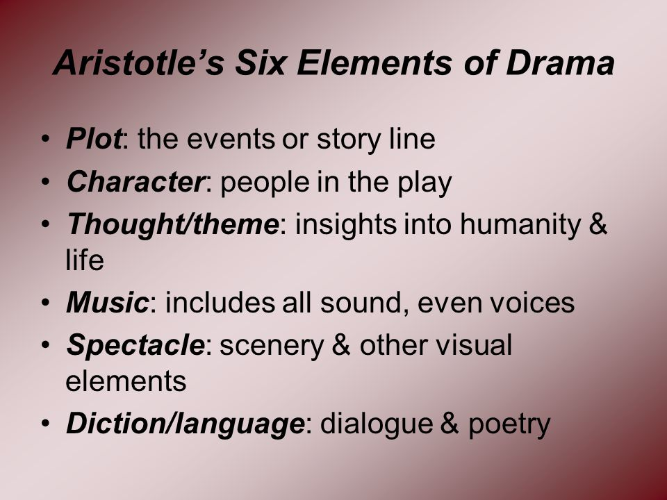 What Are the Five Elements of Drama?