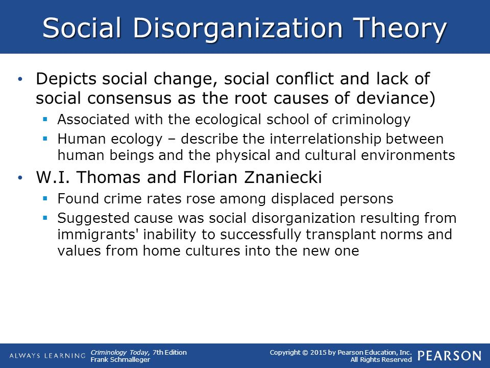 theory of ecology cause of crime Consistent with conceptual disagreements, these theoretical frameworks and   these crimes also impact human health, causing birth defects and cancer among   and monitoring water quality, industry and waste, conservation and ecology.
