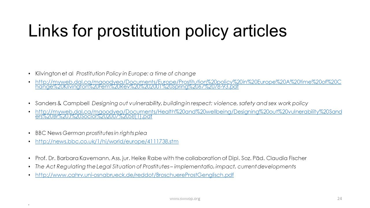 Links for prostitution policy articles