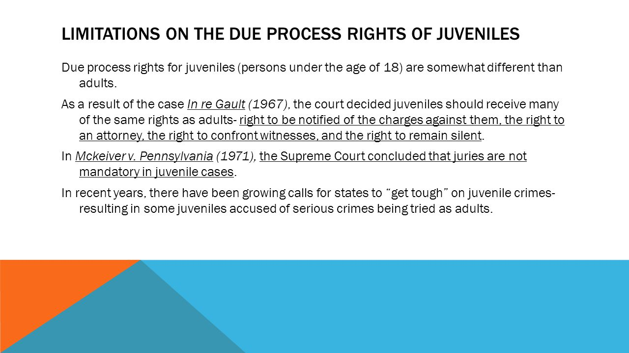 rights of juveniles
