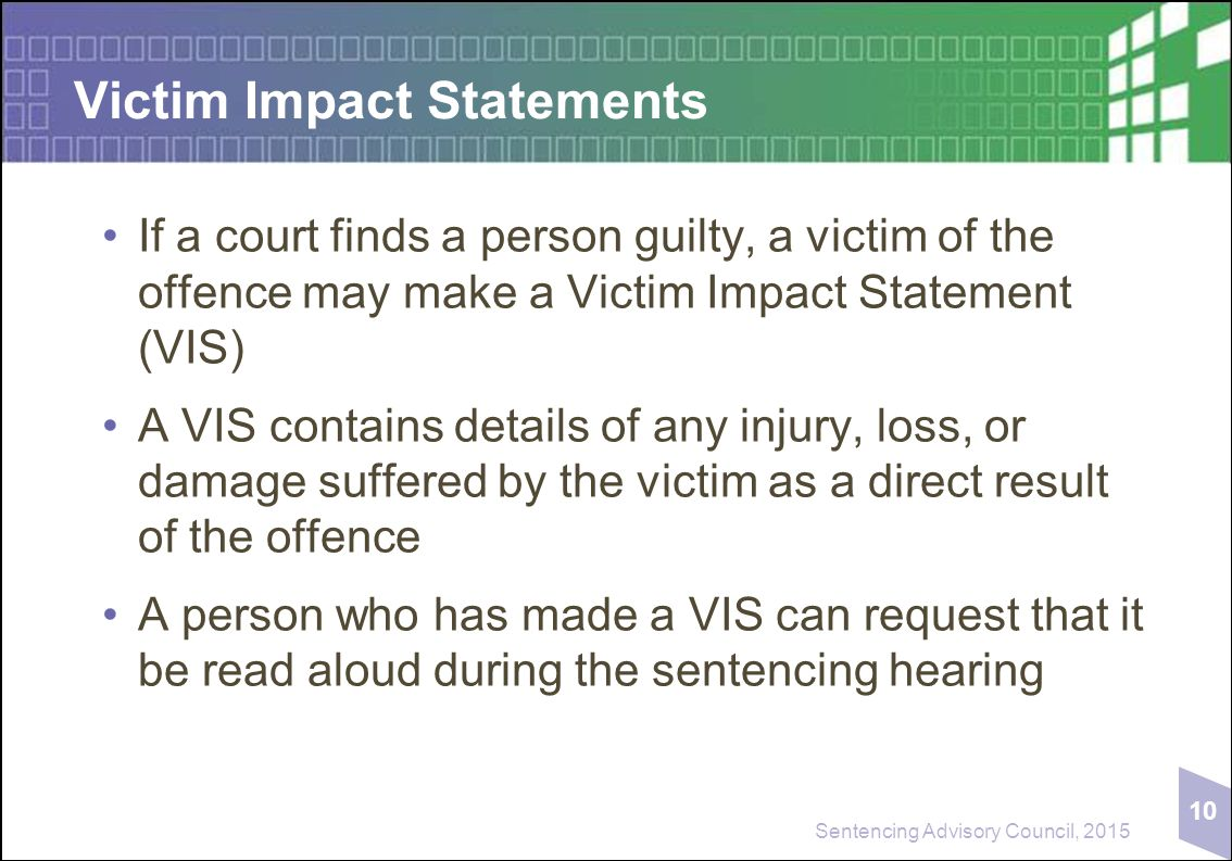 how to write an impact statement for court