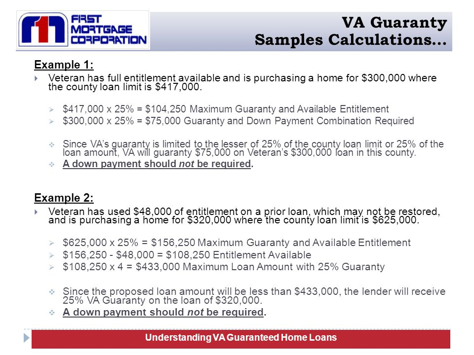 Va guaranteed home loans training ppt download understanding va guaranteed home loans yadclub Image collections