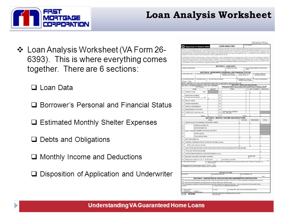 VA Guaranteed Home Loans Training ppt download – Va Irrrl Worksheet