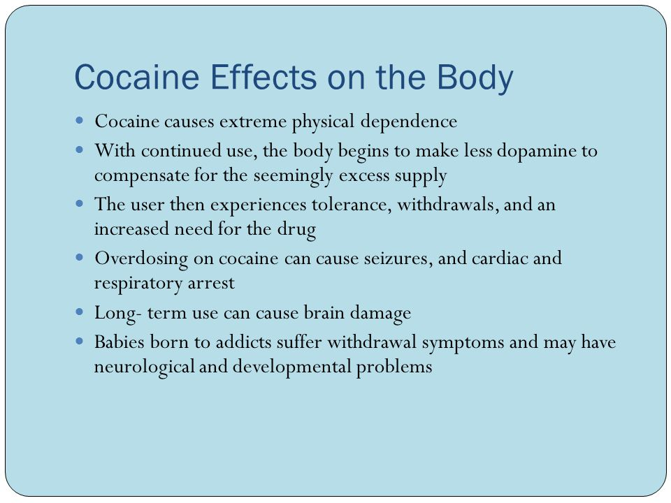 causes and effects of using cocaine