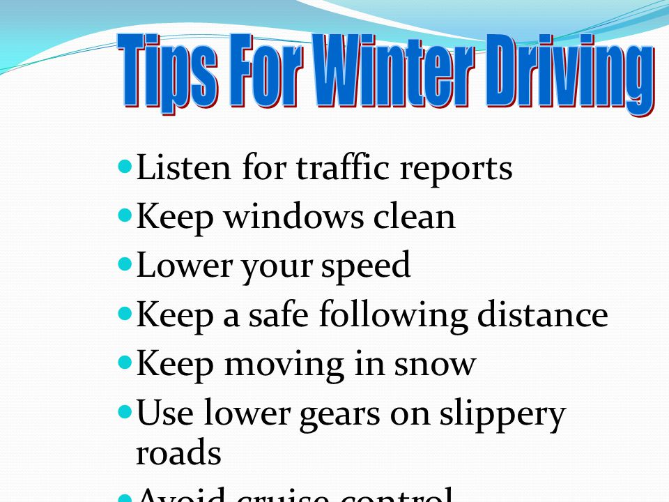 Driving In Adverse Conditions Ppt Video Online Download