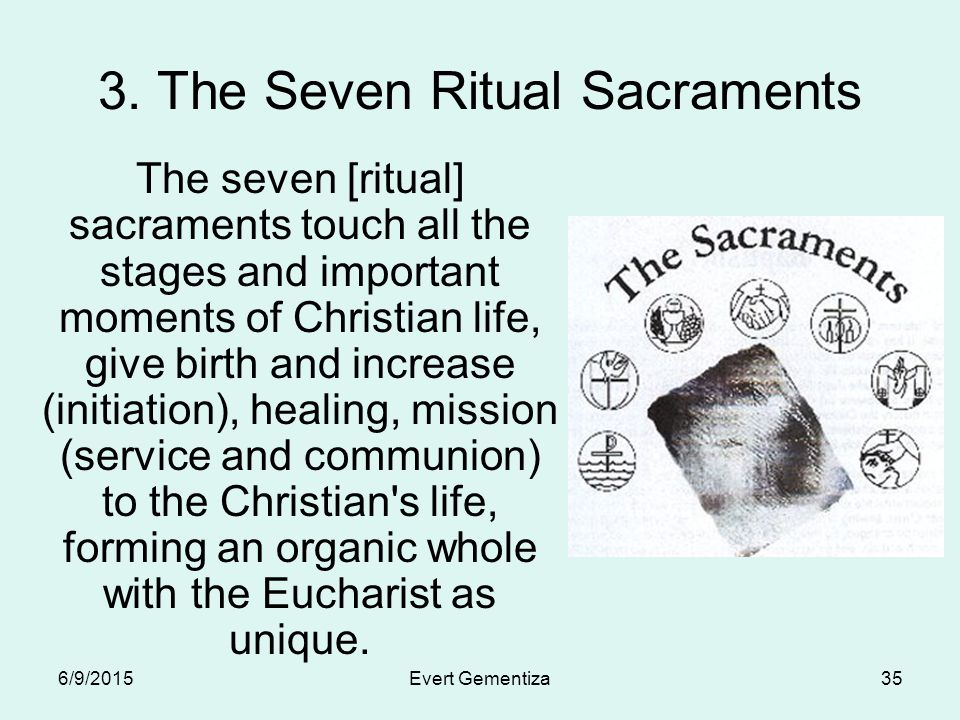 matrix on the 7 ritual sacraments of the church The atlantean origin of the seven sacraments  that baptism is a recollection or ritual reenactment of the flood  the matrix or soul that animates.