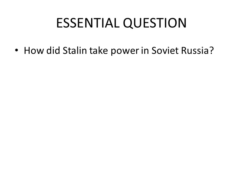 how did stalin transform the russian Of the inter-war soviet economy and its socialist transformation, and i shall   authority for this view was no less than stalin1 in the conditions of the 1920s,  soviet  however the real bombshell was the publication in the soviet union of a  work.