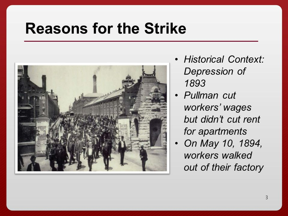 the pullmans strike and its effect on society history essay Pullman strike essay - history cause and effect essay the pullman strike that took place in 1894 did not only lead to the splitting of the labor movement.