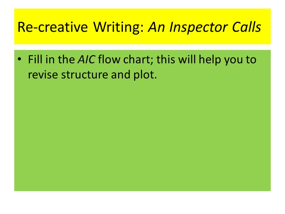 plot of an inspector calls essay