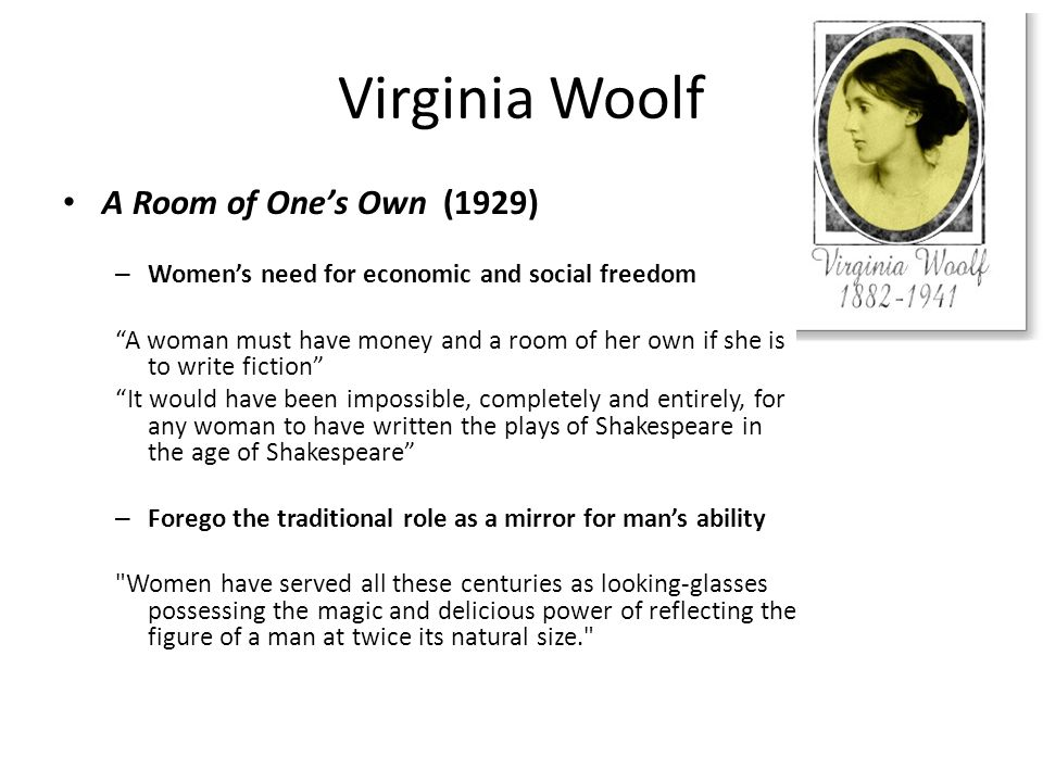 the role of women in virginia woolfs two dinners In the excerpt taken from one of her writings, readers can clearly see her attitude  towards the female role during her time woolf describes two different meals.