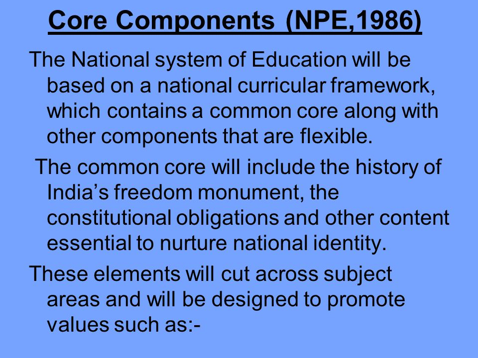 Core Components (NPE,1986)