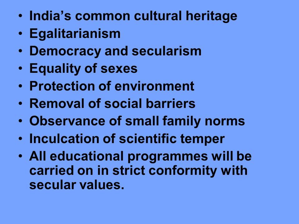 India's common cultural heritage