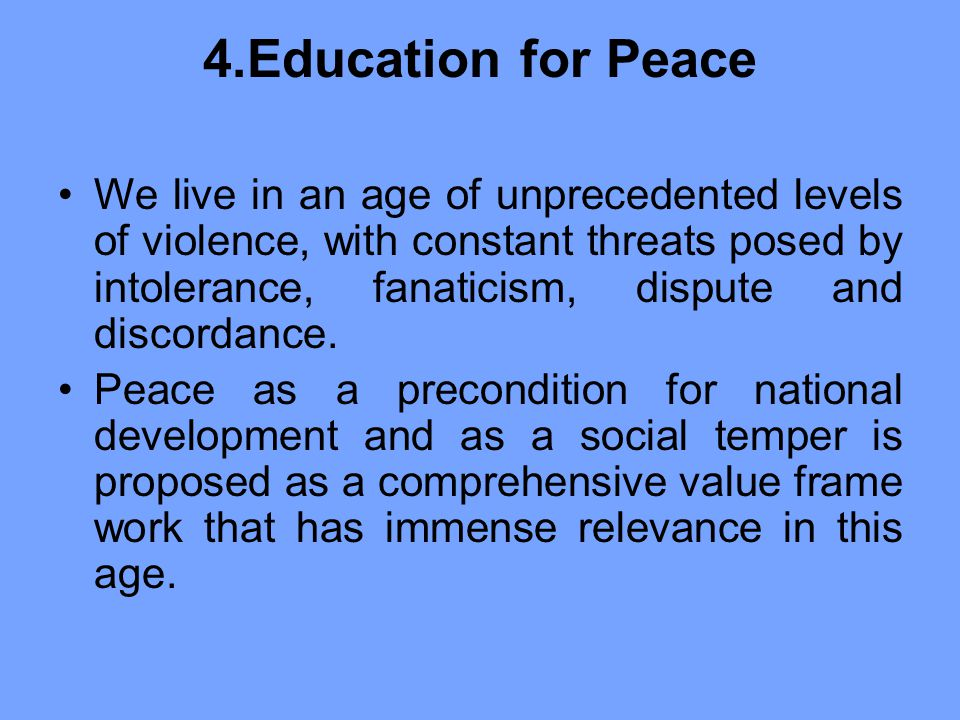 4.Education for Peace