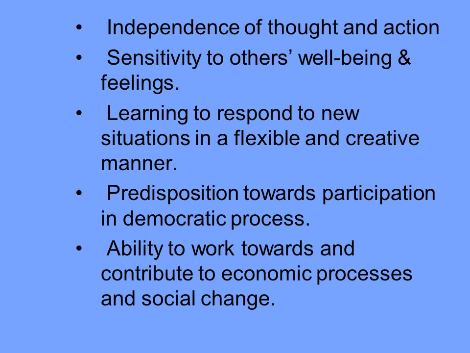 Independence of thought and action