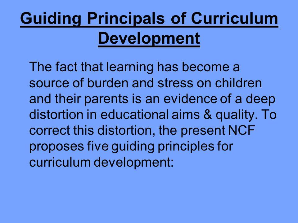 Guiding Principals of Curriculum Development