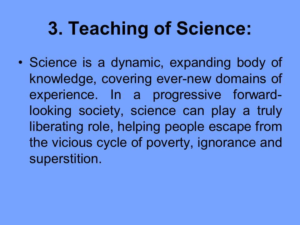 3. Teaching of Science: