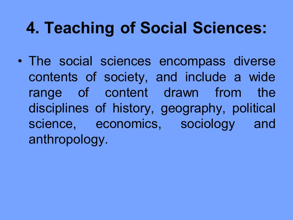 sociology and the disciplines of social science This course seeks to turn learners into informed consumers of social science research it introduces concepts, standards, and principles of social science research to the interested non-expert learners who complete the course will be able to assess evidence and critically evaluate claims about .