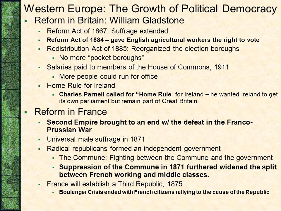 """growth of democracy in great britain To what extent was the growth of democracy in great britain due to the influence of political pressure groups democracy is a system of """"government of the people."""