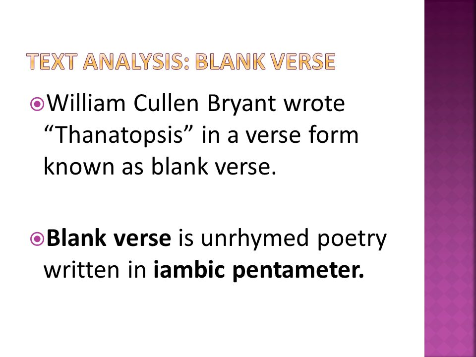 William Cullen Bryant's Thanatopsis: Summary & Analysis