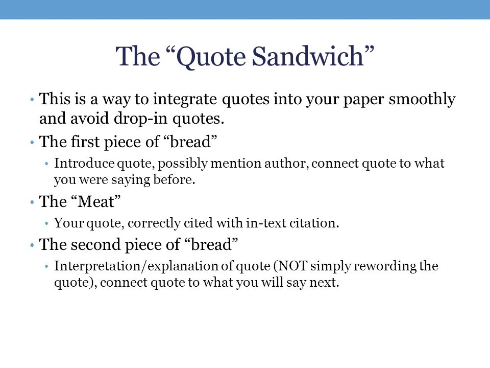 integrating quotes into paper How to put a quote in an essay using direct quotes in essays is a or thoughts – place the credit within your research paper where your cookies make wikihow.