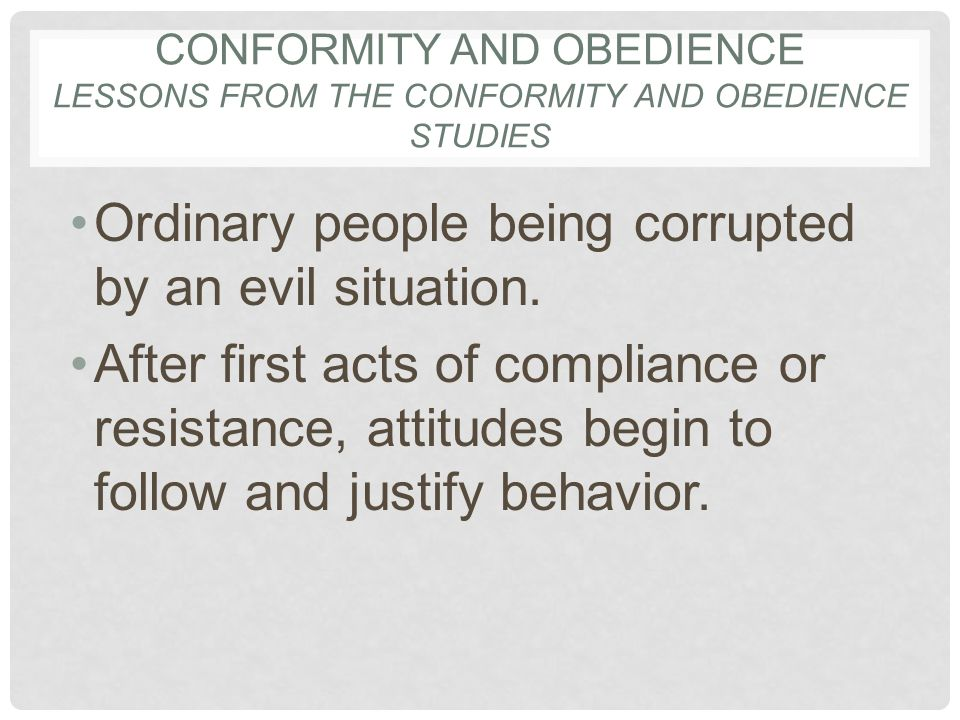 conformity and obedience in an enemy of the people Essay on conformity and obedience in an enemy of the people by henrik ibsen  - conformity and obedience in an enemy of the people by henrik ibsen an.