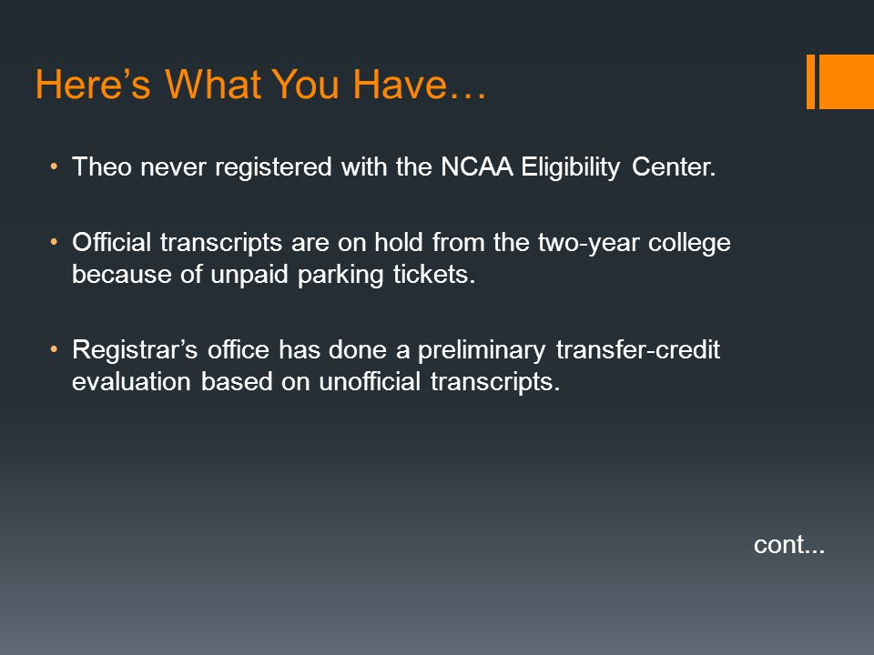 theo never registered with the ncaa eligibility center