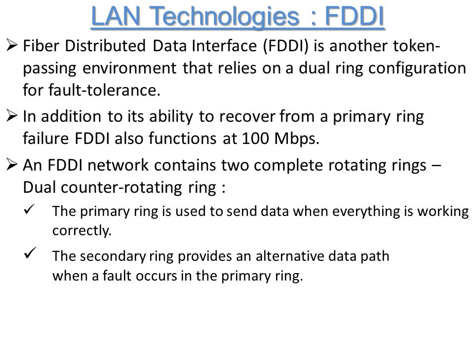 Distributed Rings In Networking