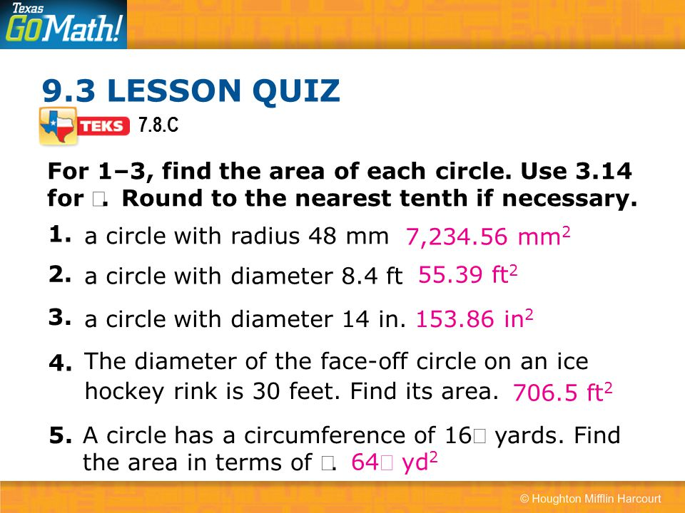 93 area of circles how do you find the area of a circle ppt c for 13 find the area of ccuart Images