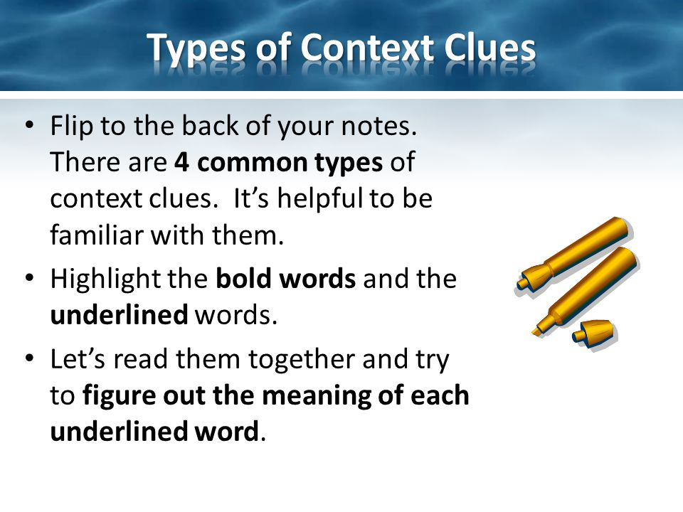 Context clues lesson 4th grade my notes   sunday cummins