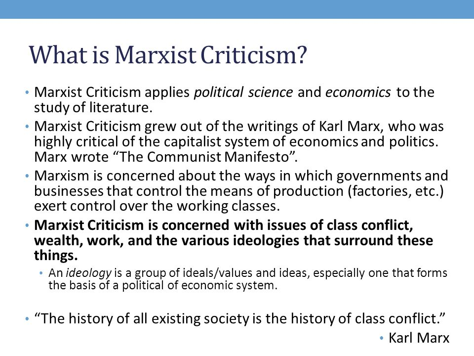 what is marxist criticism ppt video online  what is marxist criticism