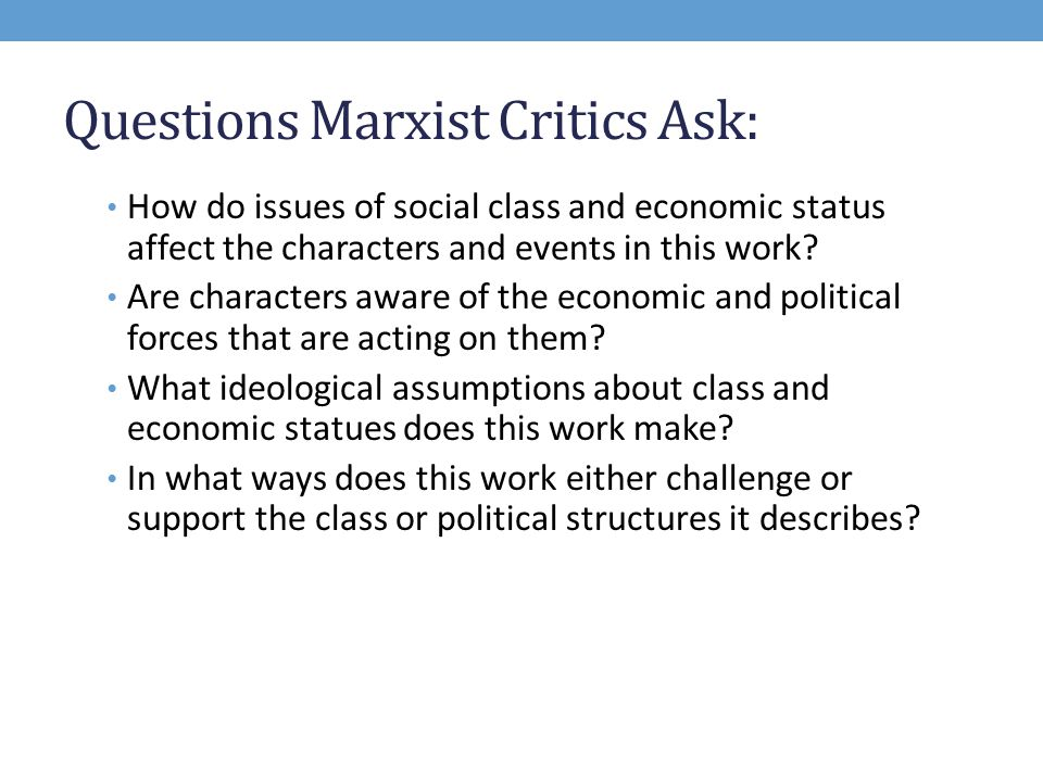 what is marxist criticism ppt video online  questions marxist critics ask