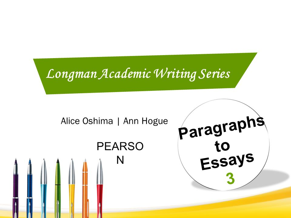Longman Academic Writing Series 2 Paragraphs