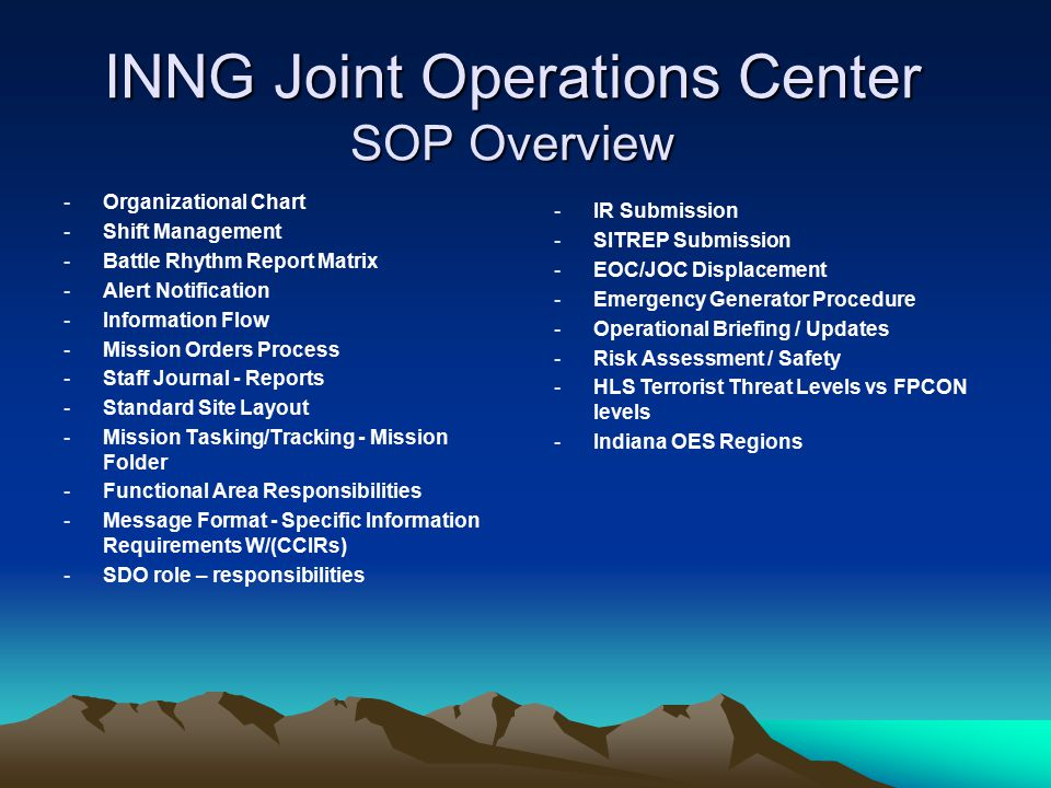 Joint Operations Center Ppt Download