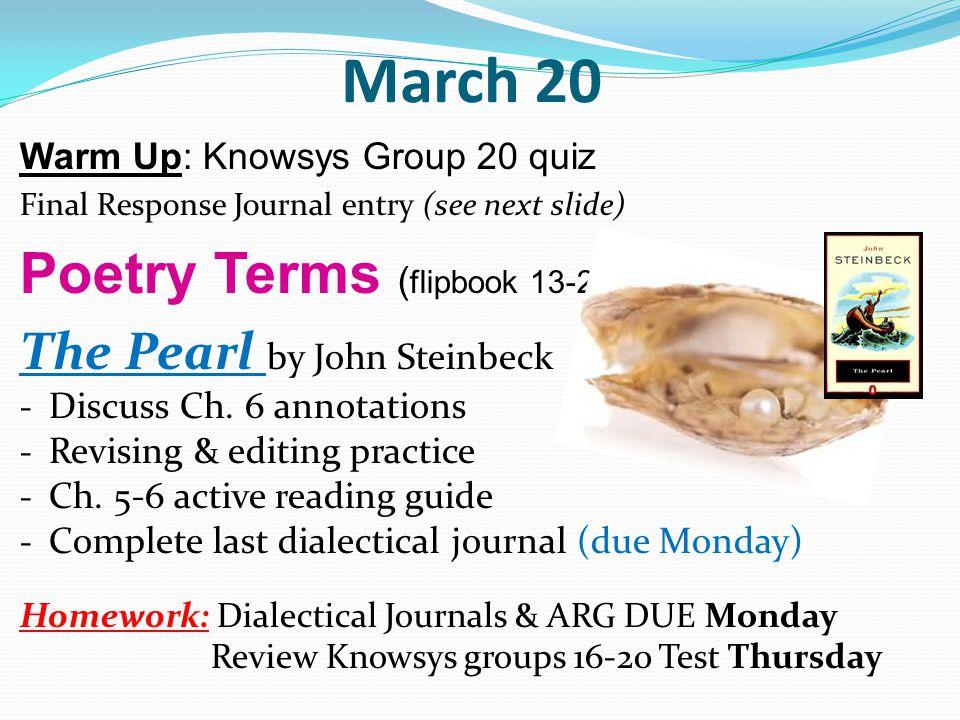 the pearl essay john steinbeck