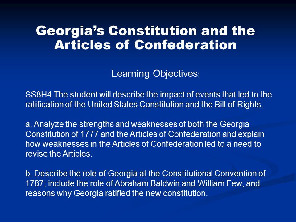 strengths of the articles of confederation The articles of confederation america's 1st constitution 1781-1789 why did the founding fathers choose a confederation plan of government why did the founding fathers believe the articles needed to be replaced by the us constitution.