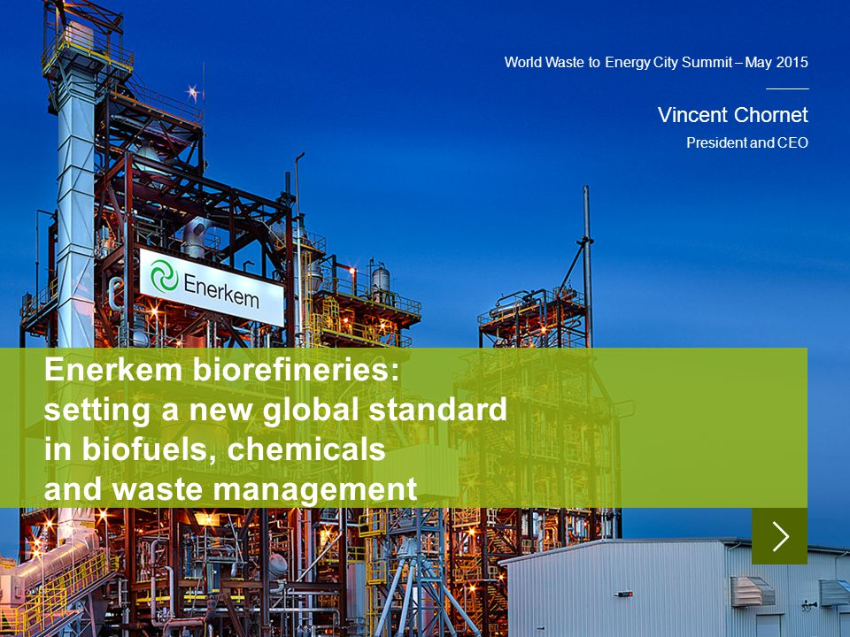 World Waste to Energy City Summit – May 2015