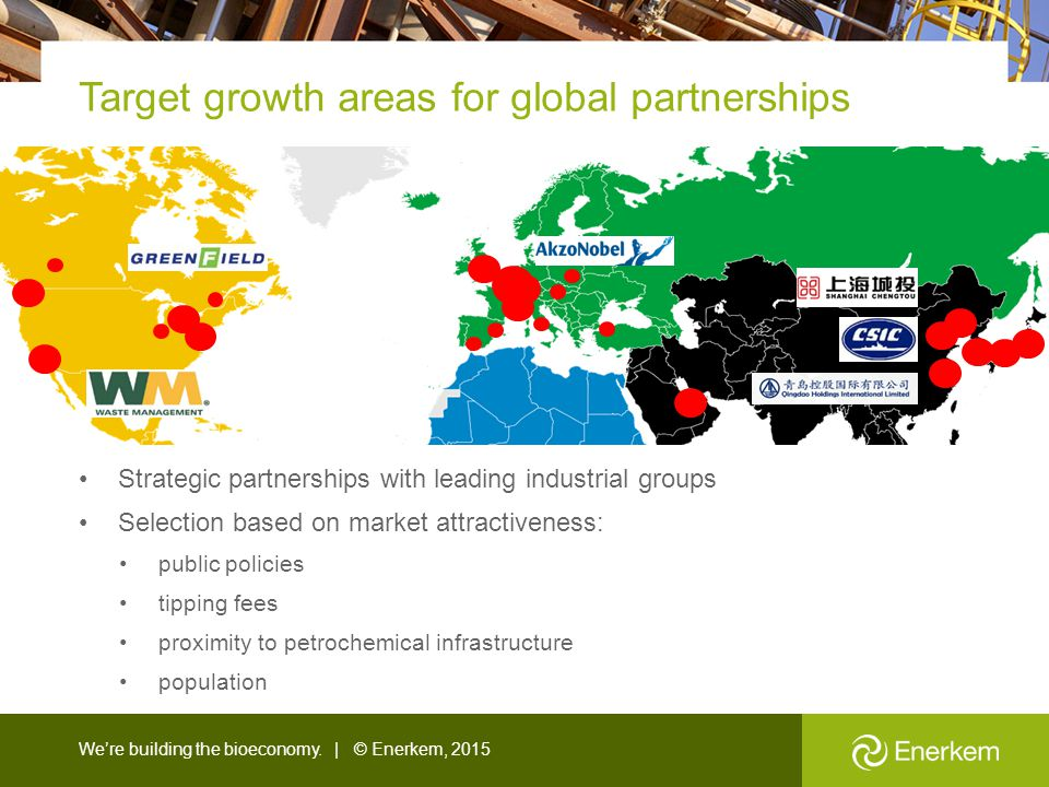Target growth areas for global partnerships