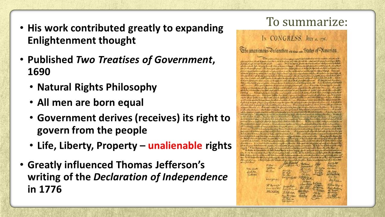 worksheet Enlightenment Worksheet the age of enlightenment ppt video online download to summarize his work contributed greatly expanding thought published two treatises of