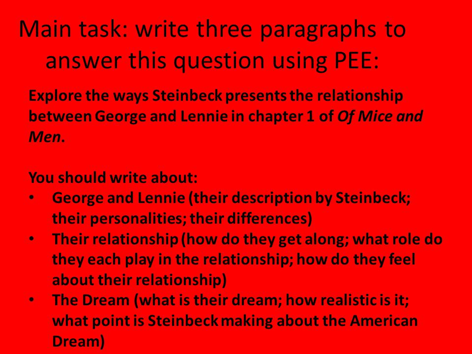 of mice and men relationship between george lennie essay