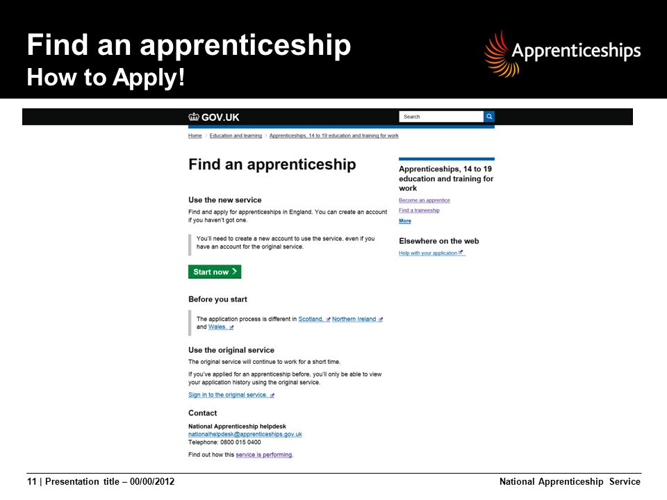 Find an apprenticeship How to Apply!