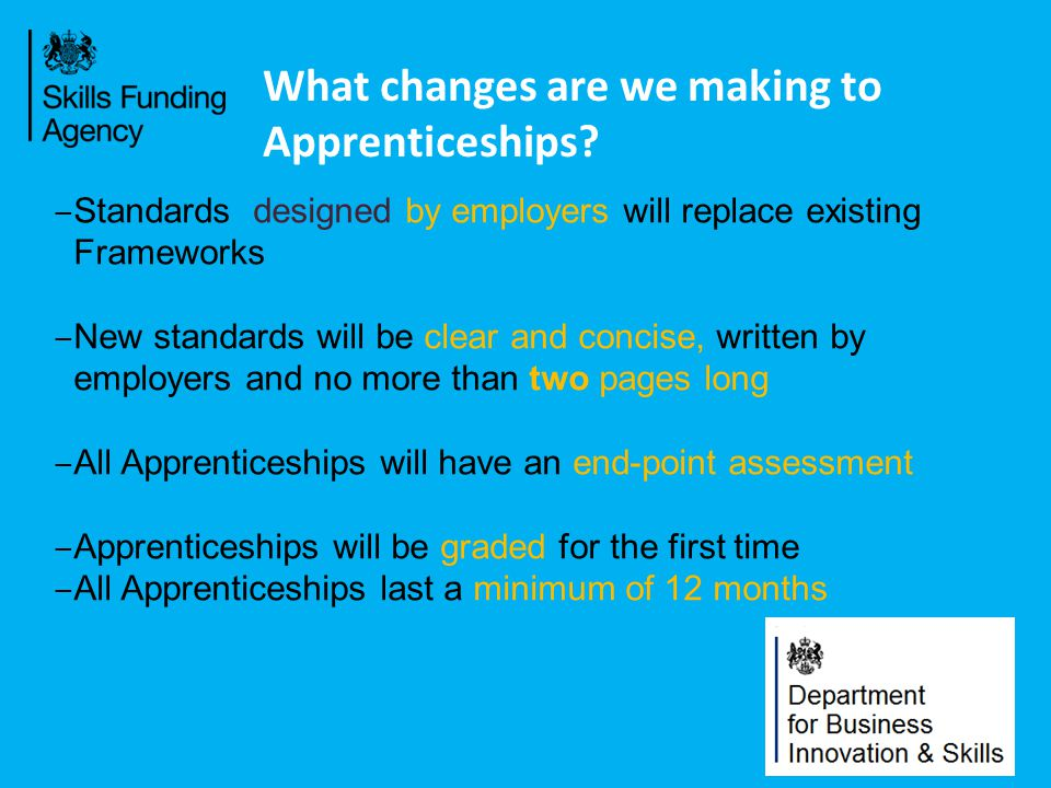 What changes are we making to Apprenticeships