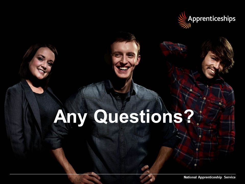 Any Questions National Apprenticeship Service
