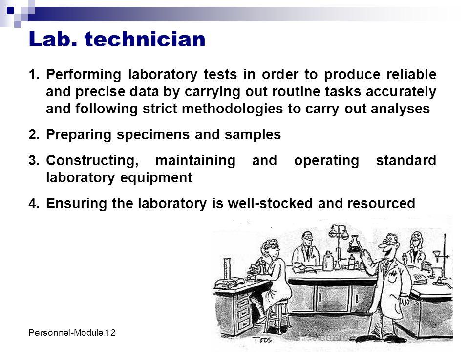 Lab. technician