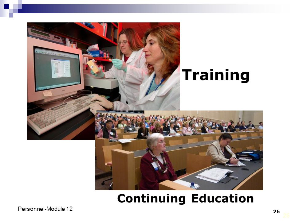 Training Continuing Education Personnel-Module 12 25 25