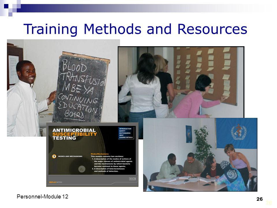 Training Methods and Resources
