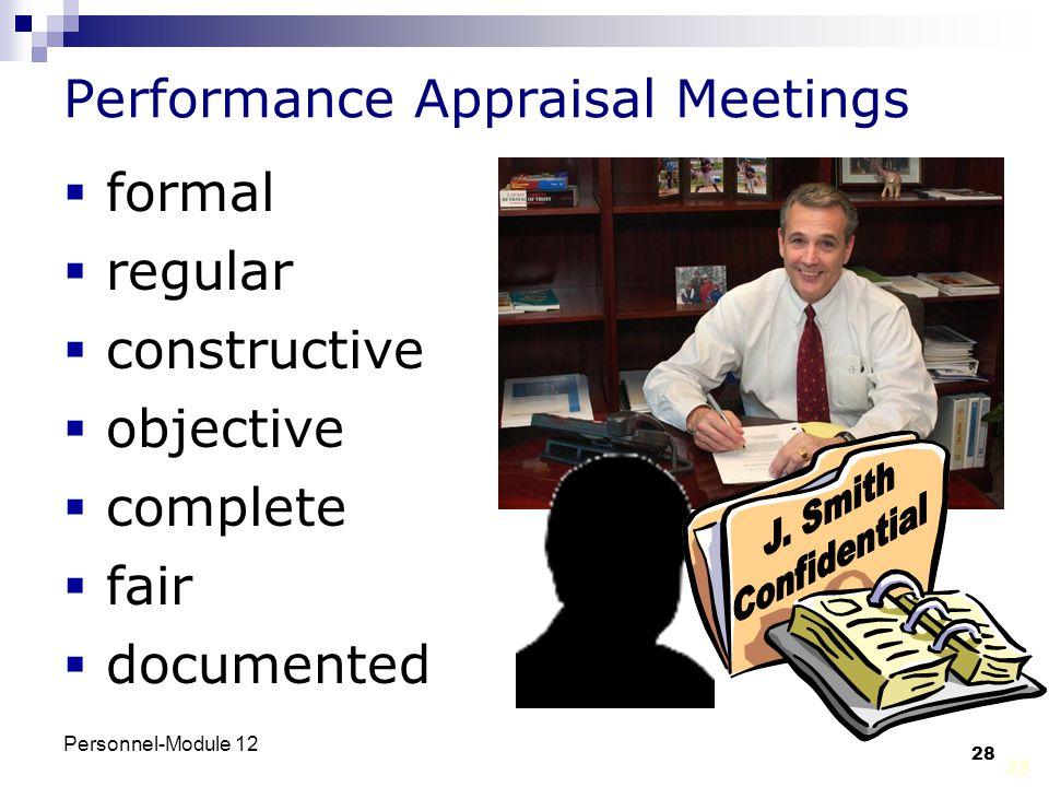 Performance Appraisal Meetings