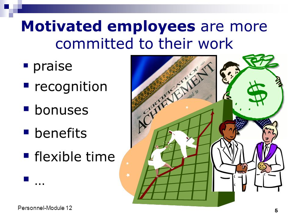 Motivated employees are more committed to their work